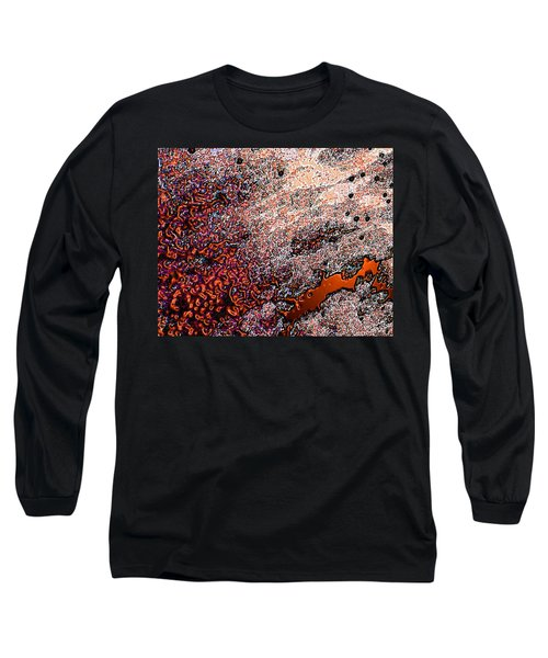 Long Sleeve T-Shirt featuring the photograph Copperspill by Stephanie Grant
