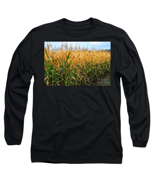 Long Sleeve T-Shirt featuring the photograph Corn Harvest by Terri Gostola