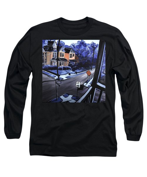 Long Sleeve T-Shirt featuring the painting Corner View by Jennifer Noren