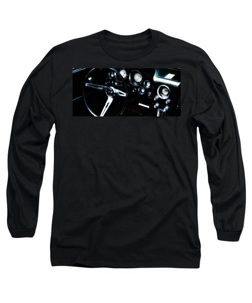 Vintage Long Sleeve T-Shirt featuring the photograph Corvette Stingray by Aaron Berg