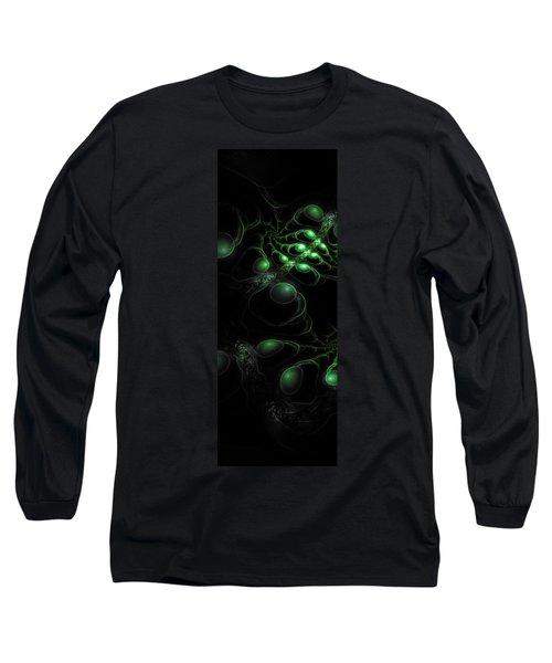 Long Sleeve T-Shirt featuring the digital art Cosmic Alien Eyes Original by Shawn Dall