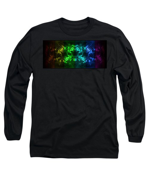 Long Sleeve T-Shirt featuring the digital art Cosmic Alien Eyes Pride by Shawn Dall