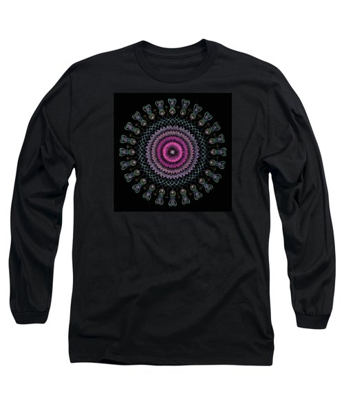 Long Sleeve T-Shirt featuring the painting Cosmic Hug by Keiko Katsuta