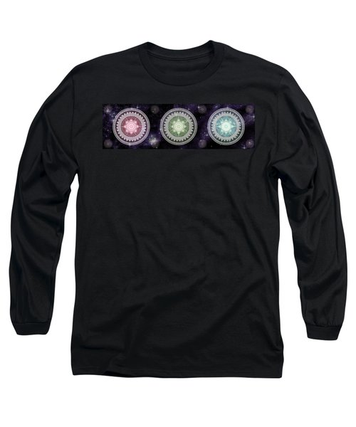 Cosmic Medallians Rgb 2 Long Sleeve T-Shirt