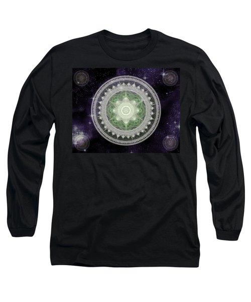 Cosmic Medallions Earth Long Sleeve T-Shirt