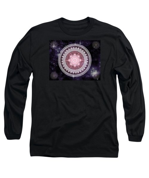 Cosmic Medallions Fire Long Sleeve T-Shirt by Shawn Dall