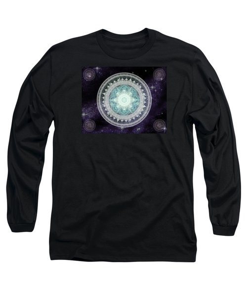 Cosmic Medallions Water Long Sleeve T-Shirt by Shawn Dall