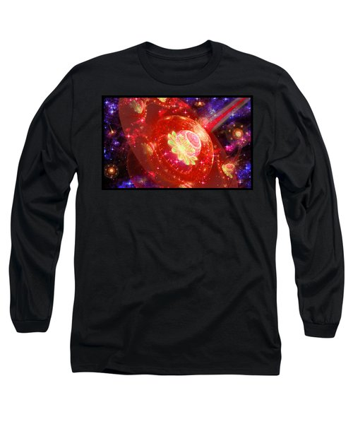 Cosmic Space Station Long Sleeve T-Shirt by Shawn Dall