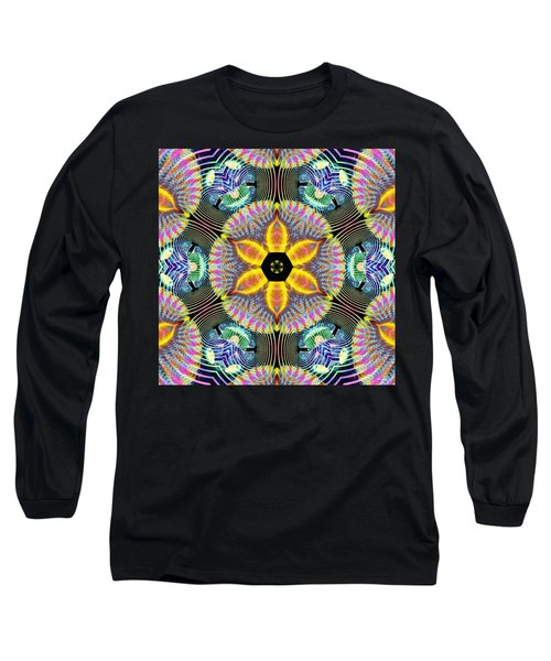 Cosmic Spiral Kaleidoscope 13 Long Sleeve T-Shirt