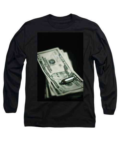 Cost Of One Bullet Long Sleeve T-Shirt by Trish Mistric