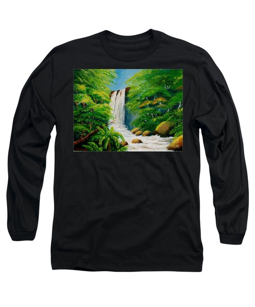 Costa Rica Waterfall Long Sleeve T-Shirt