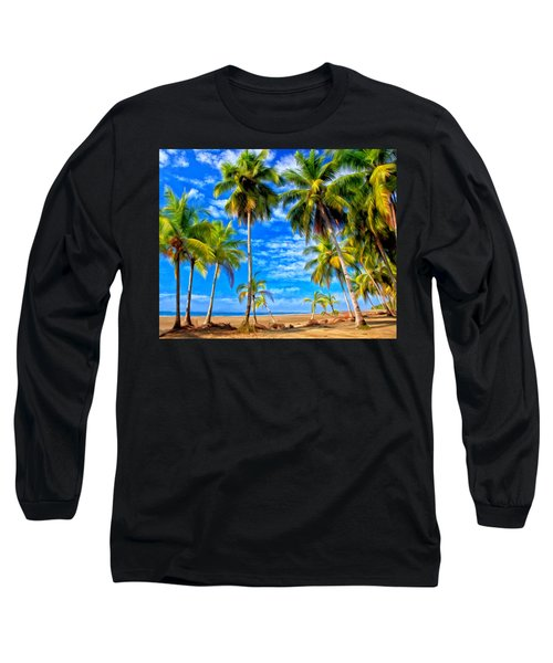 Long Sleeve T-Shirt featuring the painting Costa Rican Paradise by Michael Pickett