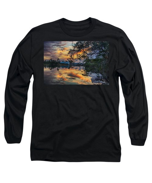 Long Sleeve T-Shirt featuring the digital art Cotton Bayou Sunrise by Michael Thomas
