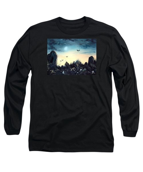 Long Sleeve T-Shirt featuring the painting Count The Eyes by Jean Walker