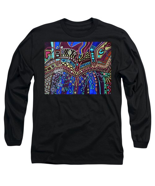 Long Sleeve T-Shirt featuring the painting Couture by Barbara St Jean