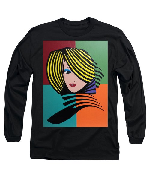 Cover Girl Long Sleeve T-Shirt by Angelo Thomas