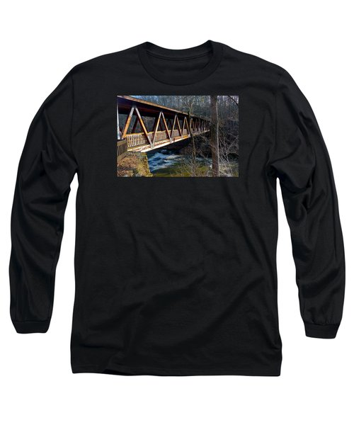 Covered Bridge In Roswell Long Sleeve T-Shirt