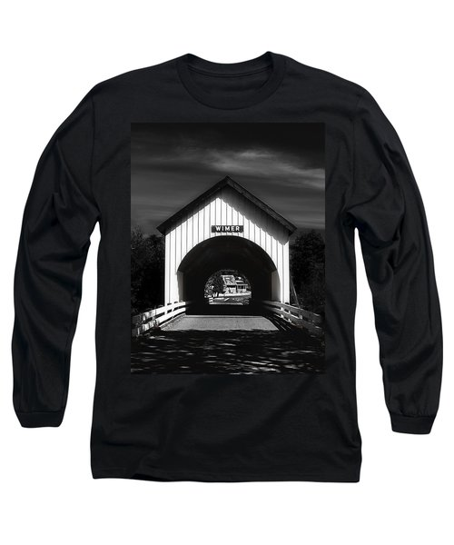Covered Bridge Long Sleeve T-Shirt by Melanie Lankford Photography