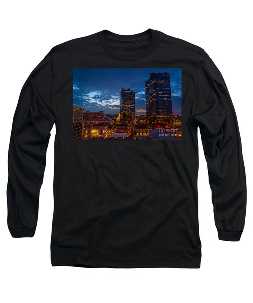 Cowtown At Night Long Sleeve T-Shirt