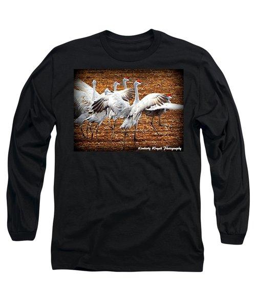 Crane Ballet  Long Sleeve T-Shirt