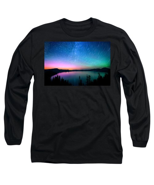 Crater Lake Aurora  Long Sleeve T-Shirt