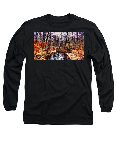 Creek At Pyramid Mountain Long Sleeve T-Shirt