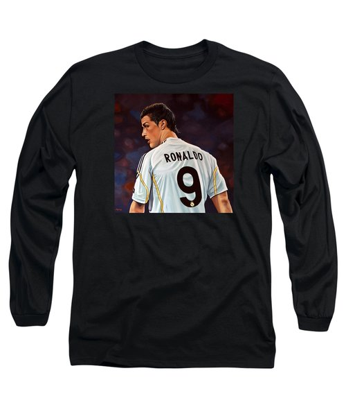 Cristiano Ronaldo Long Sleeve T-Shirt by Paul Meijering