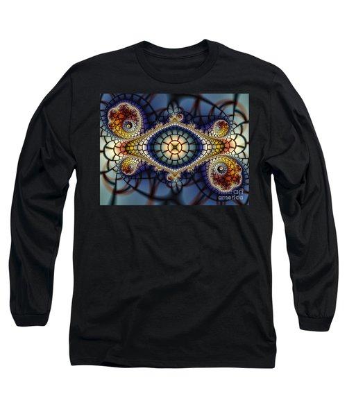 Crochet Work-geometric Abstraction Long Sleeve T-Shirt