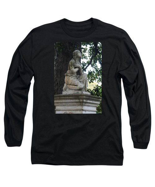 Long Sleeve T-Shirt featuring the photograph I Cross My Heart Angel by Lesa Fine