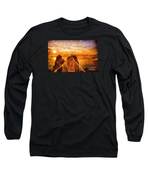 Cross That Bridge Long Sleeve T-Shirt by Catherine Lott