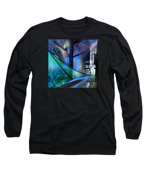 Long Sleeve T-Shirt featuring the painting Crossing Roads by Allison Ashton