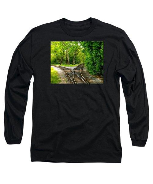 Crossing The Lines Long Sleeve T-Shirt by Joy Hardee
