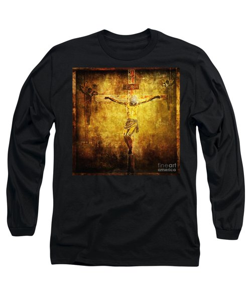 Crucified Via Dolorosa 12 Long Sleeve T-Shirt by Lianne Schneider
