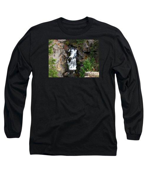 Crystal Falls Long Sleeve T-Shirt by Greg Patzer
