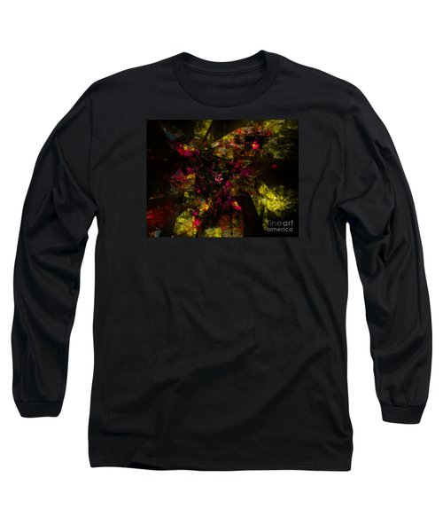 Long Sleeve T-Shirt featuring the digital art Crystal Inspiration #1 by Olga Hamilton
