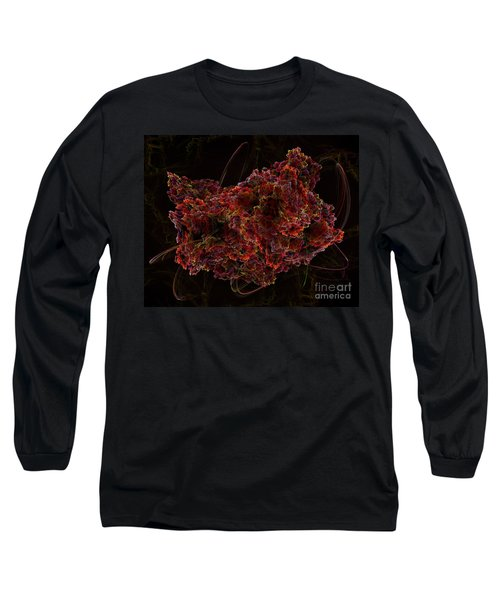 Long Sleeve T-Shirt featuring the digital art Crystal Inspiration #2 by Olga Hamilton