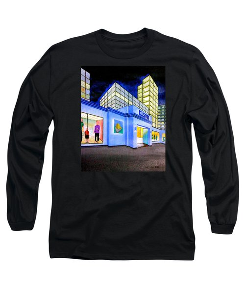Long Sleeve T-Shirt featuring the painting Csm Mall by Cyril Maza