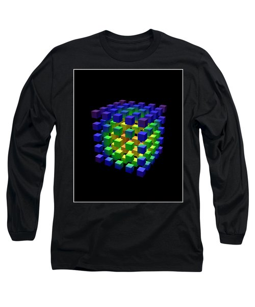 Long Sleeve T-Shirt featuring the digital art Cube Of Cubes... by Tim Fillingim