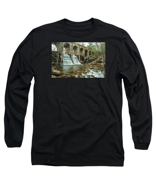 Cumberland Waterfall Long Sleeve T-Shirt by Debbie Green