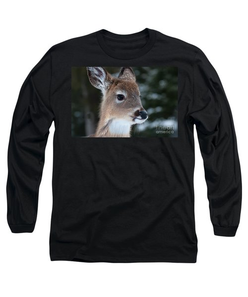 Curious Fawn Long Sleeve T-Shirt by Bianca Nadeau