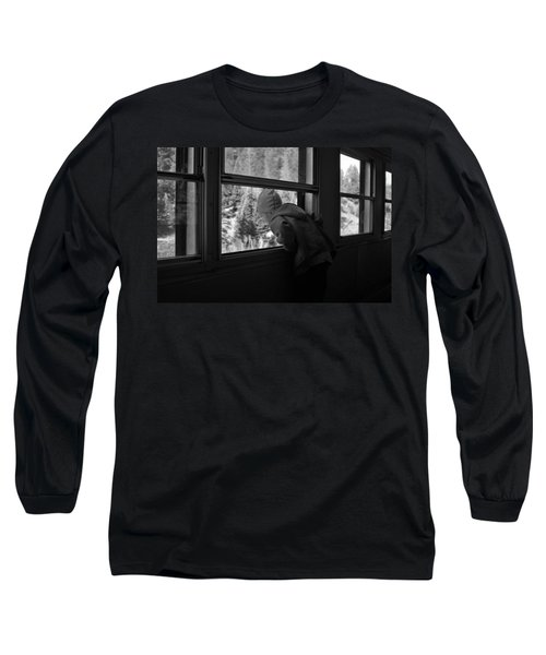 Long Sleeve T-Shirt featuring the photograph Curious by Jeremy Rhoades