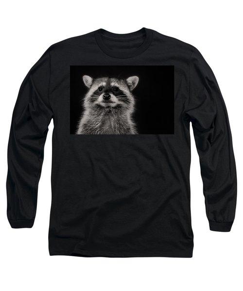 Curious Raccoon Long Sleeve T-Shirt