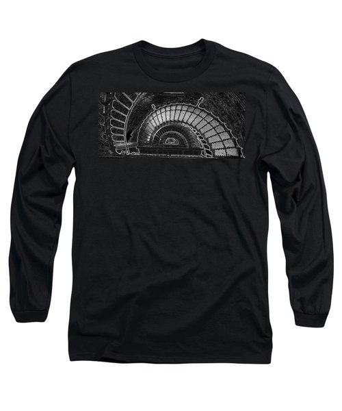 Long Sleeve T-Shirt featuring the photograph Currituck Lighthouse Stairs by Greg Reed
