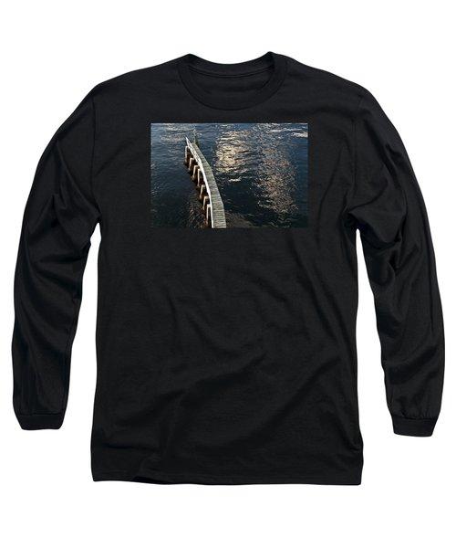 Curved Fender Las Olas Drawbridge Fort Lauderdale Florida Long Sleeve T-Shirt