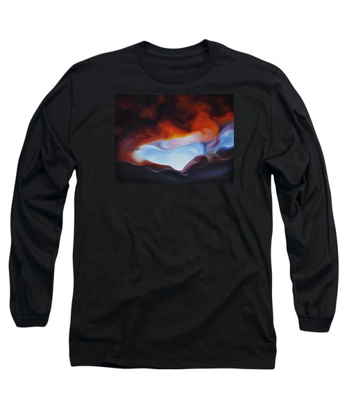 Long Sleeve T-Shirt featuring the painting Curves On The Horizon by Craig Burgwardt