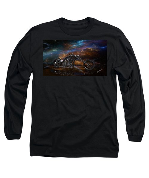 Custom Black Chopper Long Sleeve T-Shirt