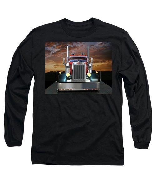 Custom Peterbilt Long Sleeve T-Shirt by Stuart Swartz
