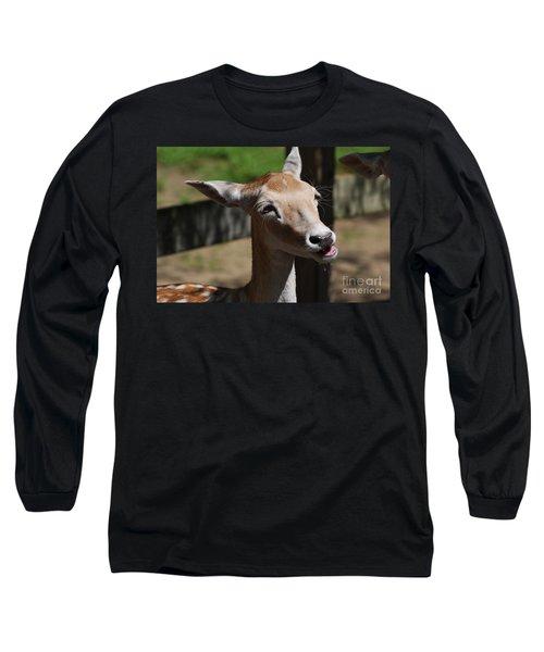 Cute Deer Long Sleeve T-Shirt by DejaVu Designs