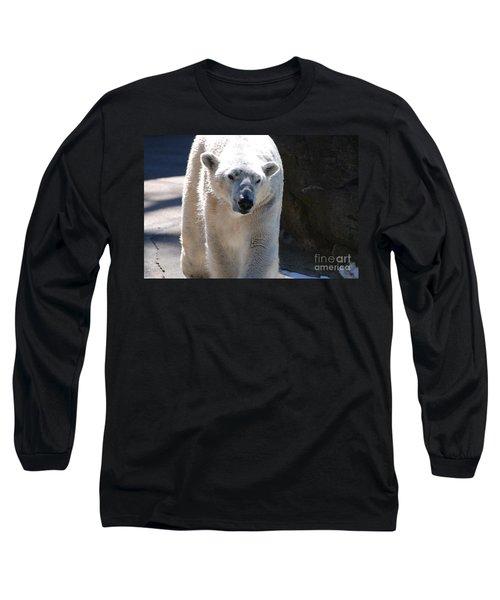 Cute Polar Bear  Long Sleeve T-Shirt by DejaVu Designs