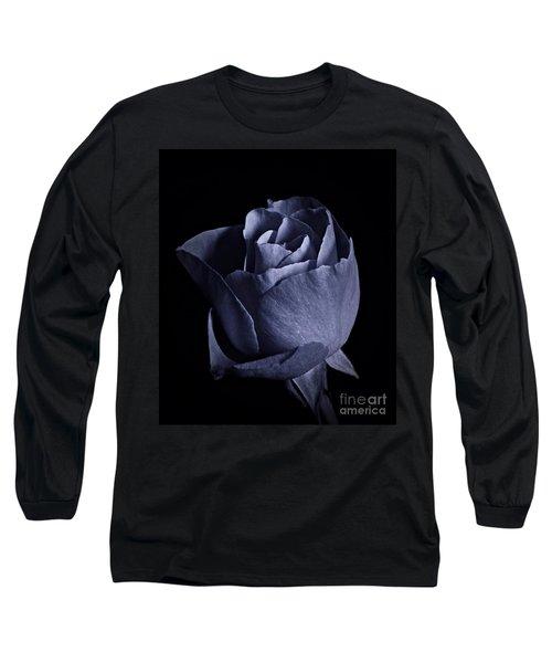 Cyan Rose Portrait Long Sleeve T-Shirt